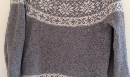 Grey woolly jumper Primark bargain