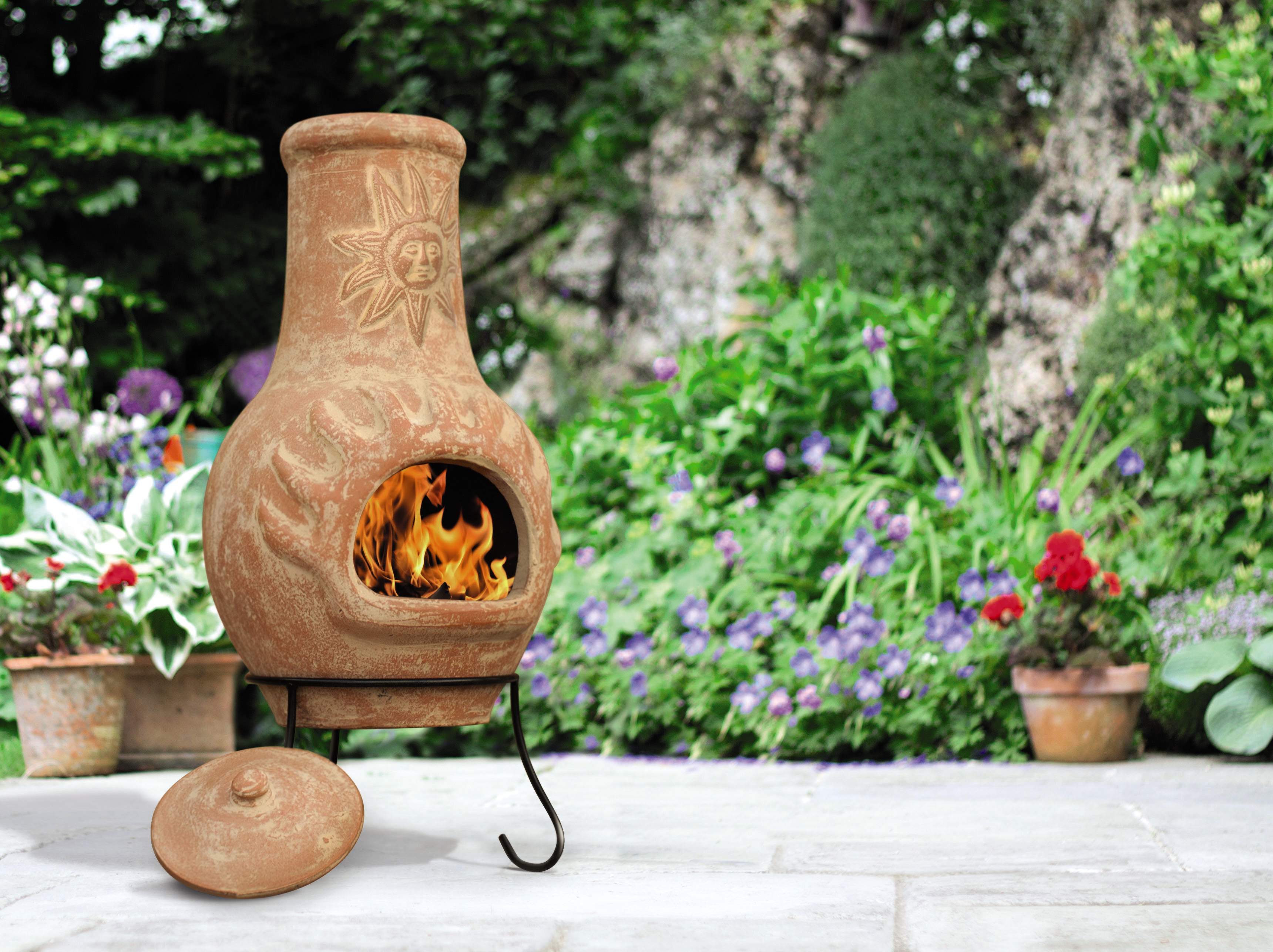 how to start a chiminea fire