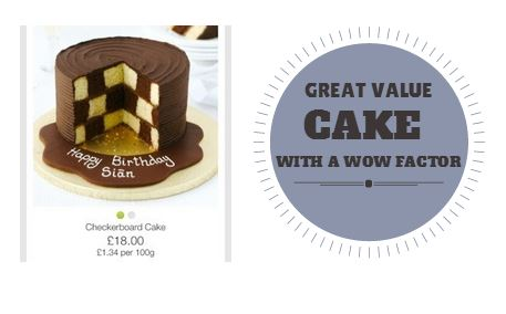 Good Value Birthday Cake With The Wow Factor Marks And Spencer Checkerboard