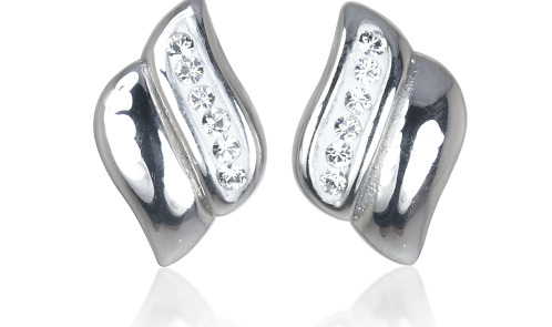 Shana Real Sterling Silver Earrings made with SWAROVSKI ELEMENTS - RRP £24 Only £9
