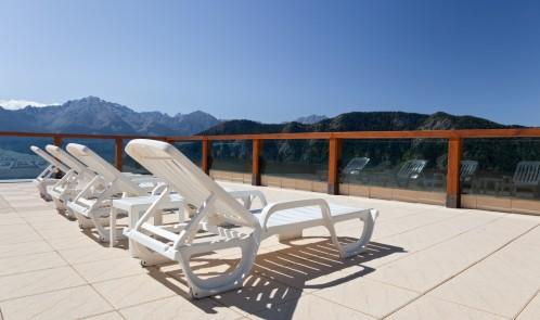 Sun chairs deck