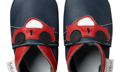 Bobux Soft Soles - navy racing car