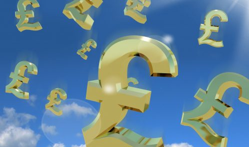 Pound Signs In The Sky As A Sign Of A Windfall, money, cash