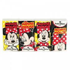 Kids Pocket Tissues Character 8 Pack