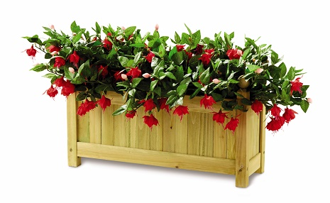 WOODEN PATIO PLANTER